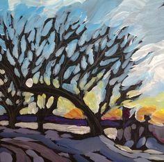 """Sunset Past Sea Salt, Lake Cal..."" by Kat Corrigan"