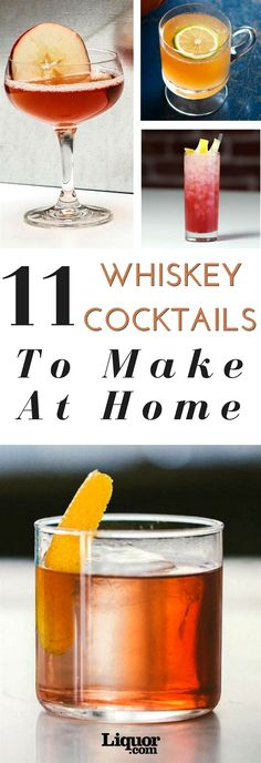 March is Whiskey Month, and the only proper way to celebrate is with a whiskey cocktail (or two). Whether you choose Canadian whisky, rye, bourbon, scotch Beste Cocktails, Bourbon Cocktails, Whiskey Drinks, Scotch Whiskey, Bar Drinks, Cocktail Drinks, Yummy Drinks, Cocktail Recipes, Rye Bourbon