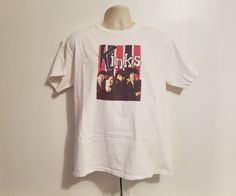 The Kinks Rock Band Adult Large White T-Shirt #FruitoftheLoom #GraphicTee