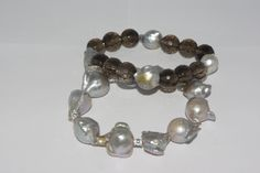 #Fabulous #Women's #Jewelry #Bracelet #Grey #Pearls #Smoky #Quartz @#LindaLeeJewels