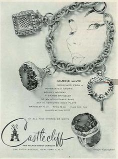 Castlecliff October 1957 - Find collectible #charmbracelets and charms on www.rubylane.com #vintage