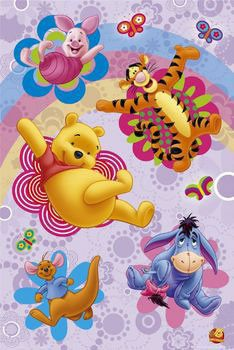 winnie pooh poster | WINNIE THE POOH - flowers Poster na EuroPosters.pt
