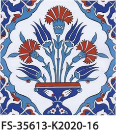FS-35613-K2020-16 Turkish Tiles, Turkish Art, Blue Pottery, Pottery Art, Tile Art, Mosaic Art, Turkish Pattern, Turkish Design, Ceramic Figures