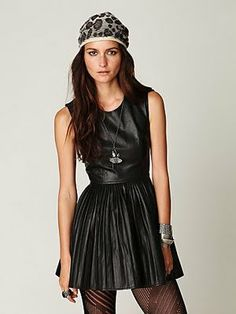 free people leather dress <3