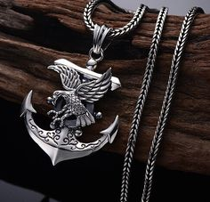 Compass Jewelry, Silver Eagles, Cartier, China, Leather Collar, Wolf Jewelry, Swallows, Anchor, Silver Necklaces