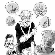 Corazon, Law, young, childhood, funny, Doflamingo, bandages, injuries, falling, accidents, crying; One Piece