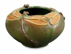Dancing Dragonflies Bowl H25 by Ephraim Pottery, Mission Pottery