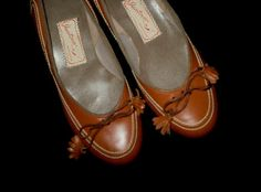Vintage 50s Jantzen Flats Shoes with Tassels 4 B by TheSpectrum, $50.00