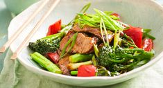 Mongolian lamb and broccolini stir-fry
