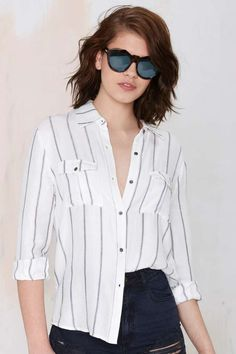 Line Drive Striped Shirt | Shop Clothes at Nasty Gal!