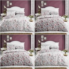 catherine lansfield pink purple owl cotton rich duvet quilt cover bedding set girl room pinterest quilt cover duvet and bed sets