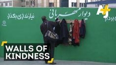 """Walls of kindness (2015): 'Those without shelter in Iran this winter can find some warmth at its Walls of Kindness. These walls in Tehran are a citizen-led project, where people can leave jackets and blankets for those in need."""""""