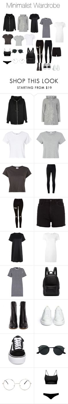 """Minimalist Wardrobe"" by ashley1kaylyn ❤ liked on Polyvore featuring Alexander Wang, Dorothy Perkins, RE/DONE, J Brand, Topshop, Paige Denim, Helmut Lang, T By Alexander Wang, PB 0110 and Maison Margiela"