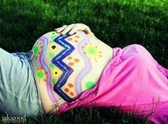 pregnant belly painted11