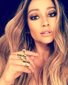 Shay Mitchell - shaym: Trying to figure out if blondes really do have more fun… love my glam for today thanks to @patrickta & @chrisappleton1 styled by @bartolistyle