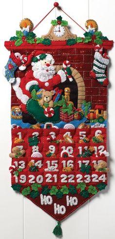 DIY Felt Applique Advent Calendar Sewing Kit from Bucilla