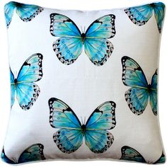 Costa Rica Robin's Egg Butterfly Large Scale Print Throw Pillow from Pillow Decor Butterfly Pillow, Blue Butterfly, Butterfly Decorations, Dot And Bo, Home Decor Accessories, Decorative Throw Pillows, Costa Rica, Scale, Boat Interior