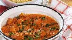 Oppskrift på pasta med pølsesaus, foto: Synøve Dreyer