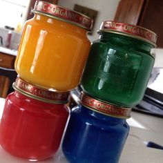 We made homemade finger paints today. So much fun. Got the directions here http://pinterest.com/pin/230809549622536641/