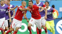 Switzerland's Haris Seferovic struck deep in stoppage time to give his side a 2-1 win over Ecuador
