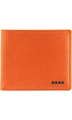 Tod's Logo Tile Bi-Fold Wallet Men Wallet, Orange Brown, Brown Fashion, Colorful Fashion, Tile, Fashion Accessories, Logo, My Style, Fashion Trends