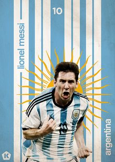 World Cup 2014 Posters | KICKTV by Luke Barclay, via Behance