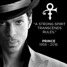 And he transcended them all. #Prince #RIP