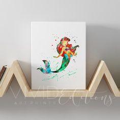 Items similar to The Little Mermaid Paintings / Dinglehopper, Thingamabob, and Snarfblatt / Art for Mermaid Room / Set of 3 Acrylic Paintings, on Etsy Little Mermaid Painting, Ariel The Little Mermaid, Canvas Artwork, Canvas Prints, Art Prints, Mermaid Room, Art Paintings, Mermaid Paintings, Acrylic Paintings