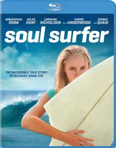 """Soul Surfer"" The Bethany Hamilton Story - Christian Movie on DVD and Blu-ray with AnnaSophia Robb, Carrie Underwood and Kevin Sorbo. Check out Christian Film Database for more info -  http://www.christianfilmdatabase.com/review/soul-surfer/"