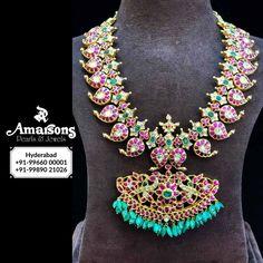 Gold Earrings Designs, Gold Jewellery Design, Necklace Designs, Gold Designs, Designer Jewellery, Latest Jewellery, Bead Jewellery, Temple Jewellery, Antique Jewellery