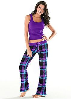 Tank, wooby plaid pants from VENUS women's swimwear and sexy clothing. Order Tank, wooby plaid pants for women from the online catalog or Sleepwear Women, Women's Sleepwear, Bride Dressing Gown, Long Sleeve Pyjamas, Cute Pajamas, Plaid Pants, Pj Pants, Drawstring Pants, Printed Pants