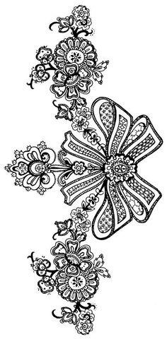 Floral black lace pattern Vector Image