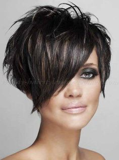 Short Female Hairstyles 2014 short classy female haircuts 6 Short Hair With Long Bangs