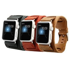China Best- selling Watch Straps 42mm for apple Luxury Real Leather Watch Bands Quickly Delivery