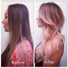 dark brown to pink hair - Google Search