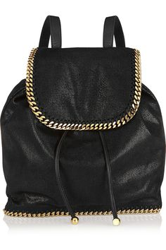 11acac9f6d9b Stella McCartney - The Falabella faux brushed-leather backpack. Types Of PursesBackpack  PurseLeather ...