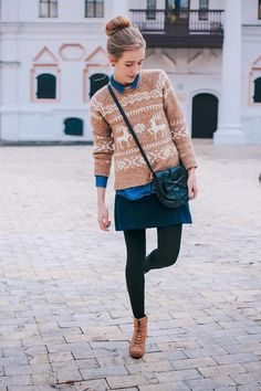 City fashion: my vision : Reindeer sweater