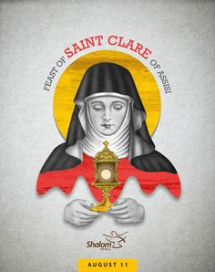 Did you know that St. Clare was deeply influenced by St. Francis of Assisi and founded her own congregation The Poor Clares? Francis Of Assisi, St Francis, Santa Clara, Clare Of Assisi, San Francisco, World Tv, Pray, Disney Characters, Fictional Characters
