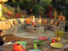 My dream backyard fire pit Fire Pit Seating, Fire Pit Backyard, Backyard Patio, Backyard Landscaping, Patio Seating, Sunken Patio, Nice Backyard, Cafe Seating, Florida Landscaping