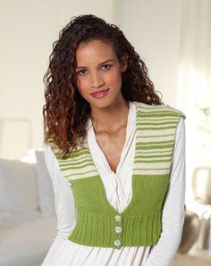 Smartly Striped Vest