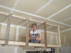 hanging overhead storage #garageorganizer