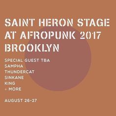 The Saint Heron stage is an R&B lovers dream , with more artists to be announced! #Afropunk will be amazing! #afropunkfest #afropunkbrooklyn #brooklyn #newyork #festivals #music #musicfestival #musicfestivals #rnbmusic @afropunk
