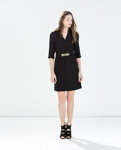 Image 1 of DRESS WITH WAIST DETAIL from Zara