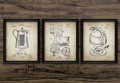 Vintage Kitchen Appliance Patent Prints Set of 3 Food Mixer