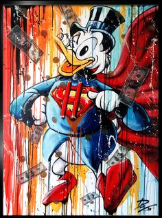 Julien Durix - Dollarman Picsou Graffiti Art, Art Banksy, Pop Art, Urban Street Art, Urban Art, Drawing Superheroes, Mickey Mouse Art, Art Disney, Mural Wall Art