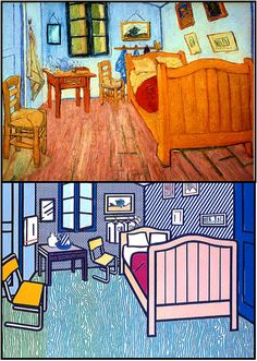I love this redesign of Van Gogh's classic painting by Roy Lichtenstein.