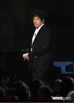 Honoree Bob Dylan appears onstage at the 25th anniversary MusiCares 2015 Person Of The Year Gala honoring Bob Dylan at the Los Angeles Convention Center on February 6, 2015 in Los Angeles, California. The annual benefit raises critical funds for MusiCares' Emergency Financial Assistance and Addiction Recovery programs.  (Photo by Frazer Harrison/Getty Images)