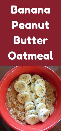 This delicious Banana Peanut Butter Oatmeal is a healthy, filling breakfast that is so easy to make! Breakfast Dishes, Healthy Breakfast Recipes, Healthy Cooking, Healthy Eating, Healthy Recipes, Healthy Meals, Smoothie, Peanut Butter Oatmeal, Food Menu