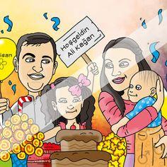 Aile Karikatürü Doğum Günü Hediyesi  #ozelcizim #hediye #komik #surpriz #cizim #resim #sanat #hediyecizim #hediyekarikatur #karikatur #ask #sevgi #cift #gebelik #gebe #hamile #dogumgunu #dogumgunuhediyesi #aile #ailekarikaturu #karikaturportre #kutlama