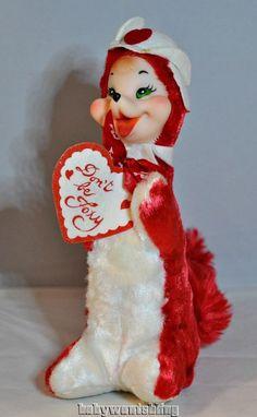 Vintage Rushton Star Creations Valentine's Day Red Fox | eBay